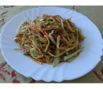 201. Salad of Chinese mushroom Jing Zheng Gu and cucumbers