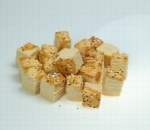 Cubes with poppy and sesame