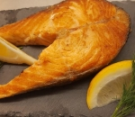 Salmon cutlets on a cloud