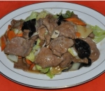 128. Veal with vegetables