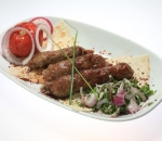 Kebab of veal and lamb minced meat