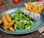Combo menu with Crispy chicken bon fillets