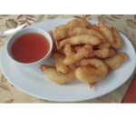 40. Breaded chicken with sweet and sour sauce