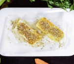 34. Baked sheep cheese with honey and walnuts
