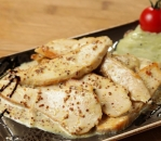 Chicken with mustard and sour cream