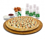 Pizza tray + 12 x Falafele + 4 x Small ayrian + Sauce Aladin 200g + Ketchup 150 g