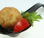 Spinach croquette with cherry tomato