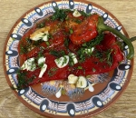 Marinated roasted peppers (pepper)