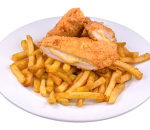 Parmesan chicken with french fries