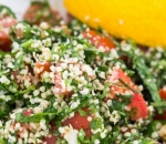 Tabule salad with hemp seed and humus