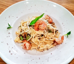 Tagliatelle with shrimp