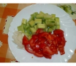 9. Salad of tomatoes and cucumbers