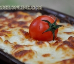 Baked dishes with cheese
