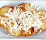 Homemade chips with cheese