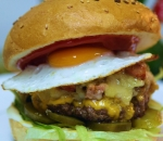 Double Bacon and Parmesan burger