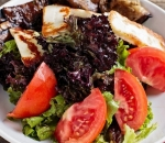 Salad with grilled eggplant