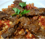 Chickpeas with beef