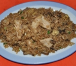 53. Fried rice with chicken and mushrooms