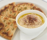 Hummus with greek bread
