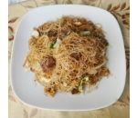 135. Rice noodles with vegetables and three kinds of meat