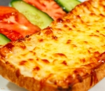 Toast with yellow cheese