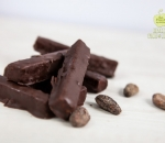 Bounty with coconut paste and culinary chocolate