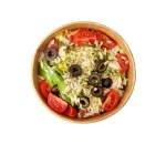 Colorful Italian salad with orzo