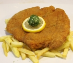 Pork Viennese schnitzel with french fries