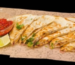 Quesadilla with spicy chicken
