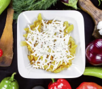 56. Homemade french fries with cheese
