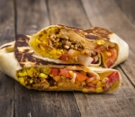 Burrito with minced beef