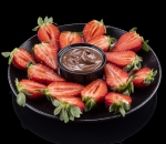 Strawberries with Nutella chocolate