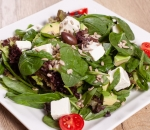 Spinach salad and feta cheese