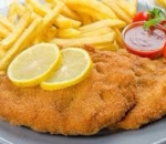 Viennese schnitzel with french fries