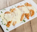 Chicken bonfils with melted cheese and cream