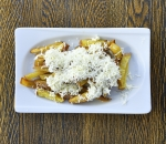 Homemade french fries with cheese