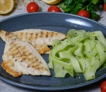 Sea bream fillet with two garnishes of your choice