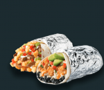 Burrito with pork