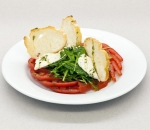 Pink tomatoes with cream cheese