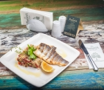 Sea bass fillet with quinoa and grilled vegetables