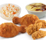 Menu with chicken and wings
