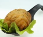 Potato croquettes with green salad
