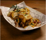 German potatoes with bacon and onion
