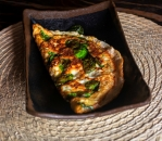 Omelet with cottage cheese and spinach