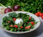 Salad storm and spinach