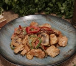 Chicken pieces with vegetables